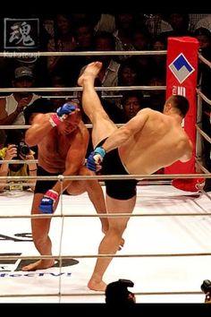 bf0937e8f90 Miss the Pride fights big time! Fedor ducking under Mirko s kick.
