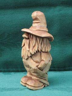 Intagliato a mano Rufus Moonshiner legno intaglio fatto a mano