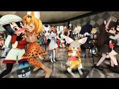 【けものフレンズ】トキ&キタキツネ×ELECT×MMD【Kemono Friends anime】