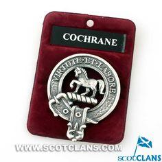Cochrane Clan Crest Cap Badge