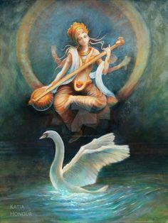 Saraswati by KatiaHonour on DeviantArt