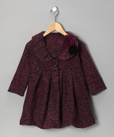 Take a look at this Hot Pink & Black Tweed Bubble Coat - Girls by Color Happy: Kids' Apparel on #zulily today!