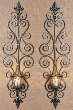 Metal Wall Sconces Candle Holders