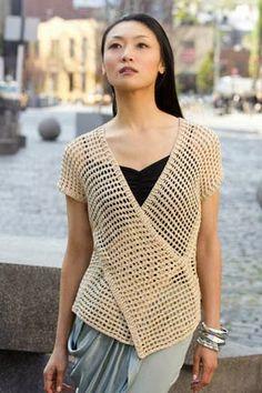 Chaleco Tokio Crochet Tunecino Patron - Patrones Crochet