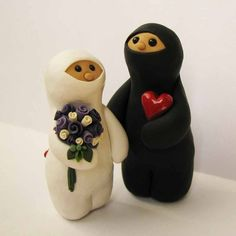 Ninja bride and groom cake toppers!