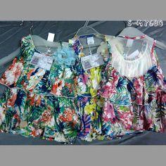 Cute sleeveless girl floral dresses transparent back flared skirt contact:moon01@moonyao.com  #GirlClothing #KidsClothing #GirlDress #KidsDress