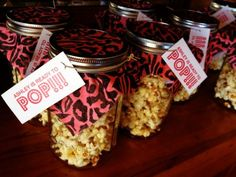 Baby shower idea - so cute! for a girl do pink popcorn! Baby Shower Favors, Baby Shower Invitations, Baby Shower Gifts, Pink Popcorn, Colored Popcorn, Kate Baby, My Champion, Camo Baby Stuff, Baby Shower Gender Reveal