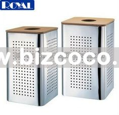 laundry bin with bamboo lidsquare stainless steel laundry