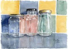 three_glass_jars__watercolour_by_maddyswan-d62afhz.jpg (1024×738)