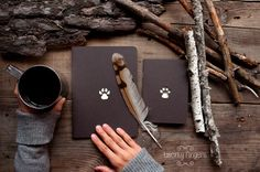 Hey, I found this really awesome Etsy listing at https://www.etsy.com/listing/164482798/forest-notebook-with-a-carved-pattern