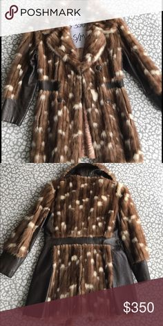 Mink coat jacket Pre loved like new condition mink with leather detail . A must have piece if you want to make a statement at a steal price. Jackets & Coats
