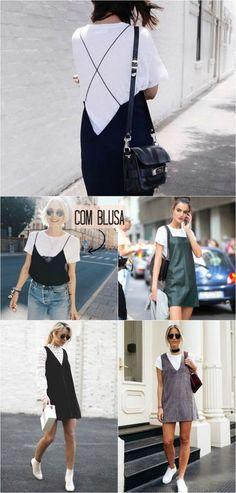 Para tentar: Sobreposição de vestido com blusa | inspirações lindas e altamente copiáveis