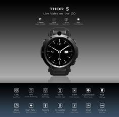 Best cheap ZEBLAZE THOR S 1.39inch Super AMOLED 1GB+16GB 3G GPS WIFI Camera Heart Rate Monitor Smart Watch - NewChic