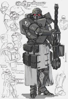 Panzer grenadier by TugoDoomER Diesel Punk, Character Concept, Character Art, Arte Cyberpunk, Arte Robot, Futuristic Armour, Armor Concept, Sci Fi Characters, Panzer