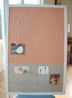 Fabric Cork Board with pockets