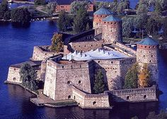 Olavinlinna (St. Olaf's Castle) in Savonlinna, Finland. It is the northernmost medieval stone fortress in Europe still standing