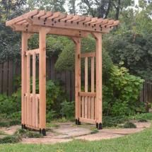 Garden Pergola featuring the Post Base Kit, Timber Bolts, Rafter Clips, and Joist Hangers by OZCO Ornamental Wood Ties