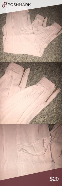 Casual pants Wear to work or at home cream color pink soft pants NWOT Pants