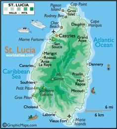 cool Map Of St Lucia