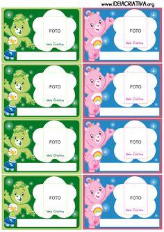 Crachás para identificação Ursinhos Carinhoso
