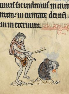 Британская библиотека, Add MS 62925, деталь F.  51R.  Псалтирь, использование Сарум (и lsquo; Ратленд Псалтири и Rsquo;).  гр.  +1260