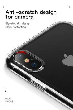 Baseus Protective Case For iPhone XS Hybrid Color Transparent Fingerprint Resistant Back Cover Newest Macbook Pro, New Macbook, Pc Cases, Iphone Cases, Macbook 15 Inch, Rain Design, Portfolio Case, Iphone Models, Apple Ipad