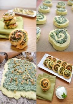 Spinach, feta and herb pinwheels with walnuts and cardamom, from Chef in Disguise.
