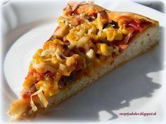 Naša najobľúbenejšia .   SUROVINY :   40 dk hladkej múky  1 kávová lyžička soli  2 polievkové lyžice oleja  5 g sušené droždie  2 dl ... Hawaiian Pizza, Vegetable Pizza, Vegetables, Food, Basket, Essen, Vegetable Recipes, Meals, Yemek