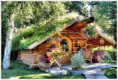 I want a root cellar or other food storage area, and I want it to look exactly like this. Beautiful!