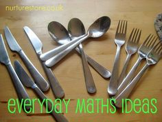 Math doesn't have to be part of school: simple ideas to mix maths in with your every-day play