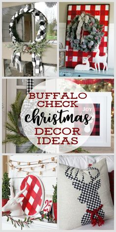 Buffalo Check Christmas Decor Ideas | Farmhouse Christmas Decorating Ideas | How to Decorate with Buffalo Check for Christmas #farmhousedecor #farmhousechristmas