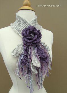 Lavender Flower Scarflette