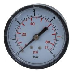 Pressure Gauge Rear/Side - Accessories For Boosters from pump.co.uk - W.Robinson & Sons (Ec) Ltd UK