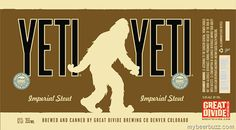 mybeerbuzz.com - Bringing Good Beers & Good People Together...: Great Divide - Yeti Imperial Stout 12oz Cans