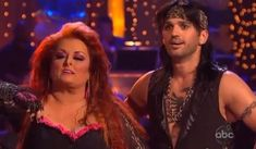 Wynonna Judd and partner!!!  She was one of the ones we were rooting for, but she gave it her best:)......