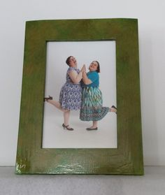 Green distressed picture frame 4x6 distressed photo by MadeByMicky