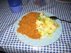 foods of ghana Jollof Rice Nigerian, Nigerian Food, Ghanaian Food, Cup Of Rice, Smoked Fish, Fried Onions, Cooking Oil, I Love Food, Fries