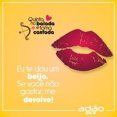Com essa cantada vai ser um arraso, se prepara! #infalivel #ounao #quintanabaladaetomacantada #adaosex
