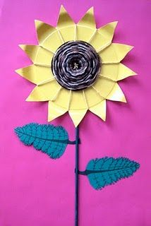 Van Gogh Sunflower weaving project - fun after art project for 7th grade, very textural:)