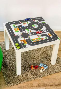 Spieltisch: Möbeltattoo für IKEA Lack Tisch von Limmaland - Kleben. Spielen. Leben. auf DaWanda.com