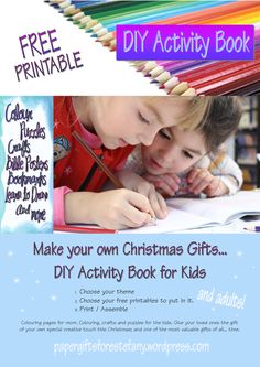 DIY Activity Book and fill it with free printable Bible colouring pages of your choice ~ fantastic Christmas gift Idea for Mom! Nativity Coloring Pages, Bible Coloring Pages, Happy Birthday Jesus, Free Birthday, Articles For Kids, Bible Bookmark, Verses For Cards, Free Bible, Free Tutorials