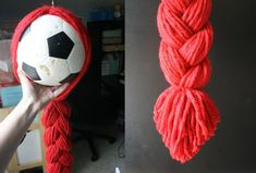 Jessie's Red Yarn Wig - DIY -- could do with Rapunzel, too...