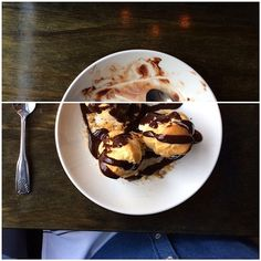 Profiteroles (Bastille - Seattle, WA) Profiteroles, Meals, Ethnic Recipes, Instagram Posts, Food, Meal, Essen, Yemek, Yemek