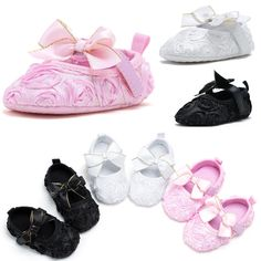 Mother & Kids New Baby Girls Prewalkers Sweet Soft Warm Shoes Antiskid Toddler Flower Polka Crib Shoes New P1
