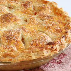 Peach pie close up