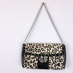 White House Black Market Black Leopard Print Calf Hair Clutch Evening Bag Purse Leopard purse Still had tags. 98.00 , price $25.00 and with discount I paid $20.00. #Purse Leopard-Print  #FALL2016