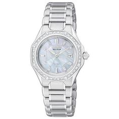 Ladies' Citizen Eco-Drive™ Signature Octavia Series Diamond and Mother-of-Pearl Watch (Model: EW2090-53D)