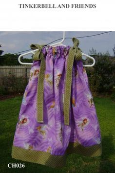 Featuring Tinkerbell and Friends - Pillowcase Dress | sweetsouthernsass - Clothing on ArtFire