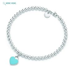 Return to Tiffany Bracelet. Happiness is in a Tiffany Blue Heart! So cute.