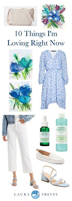 10 Things Im Loving - Spring Greens and Blues | Laura Trevey